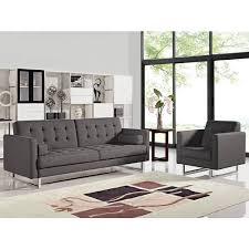 opus tufted armchair grey fabric diamond sofa modern manhattan