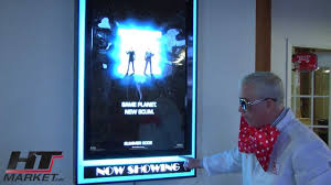 lighted movie poster frame movie poster frame with lights halo light effects youtube