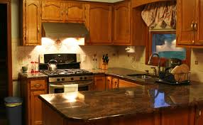 granite countertop kitchen cabinet island ideas heath tile