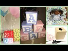baby shower centerpiece alphabet block sip and see baby boy