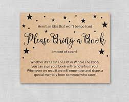 bring book instead of card to baby shower book instead of card etsy