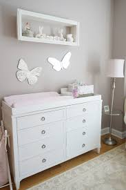 pink ivory and grey twin girls nursery project nursery