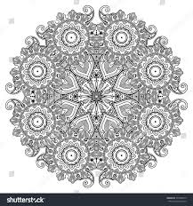 indian lace ornament mandala vintage stock vector 275589413