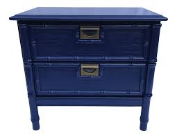 Navy Side Table Navy Faux Bamboo Side Table Chairish