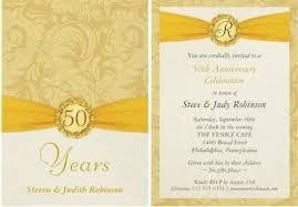 50th wedding anniversary program 50th wedding anniversary invitation wording amulette jewelry