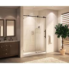 Shower Door Part Republic Mocha Premium 48 In X 76 In Frameless Sliding