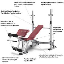 bh fitness optima press weight bench olympic rear walk in squat