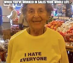 Old Lady College Meme - top 10 sales humor memes of 2016 by maddy low drivingsales