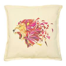 Pink Round Cushion Geometric Animals Printed Khaki Throw Pillow Cushion Case Vplc 02