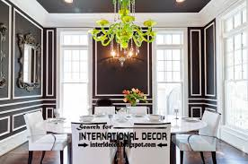 Dining Room Wall Ideas Decorative Wall Molding Designs Ideas And Panels Black Wall