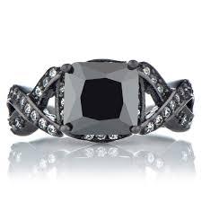faux engagement rings princess cut black cz engagement ring