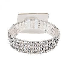 corsage bracelet rock candy silver wrist corsage bracelet
