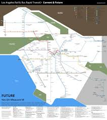 Metro La Map Watch Metro Rail Grow Under Measure M Urbanize La
