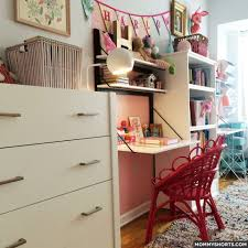 Small Room Desk Ideas The Ultimate Small Shared Bedroom For Two Growing Girls Mommy Shorts