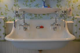 bathroom sink two faucets