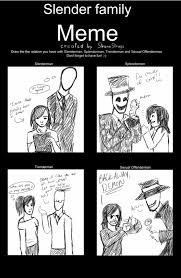 Slender Meme - my crappy slender family meme by channydraws on deviantart