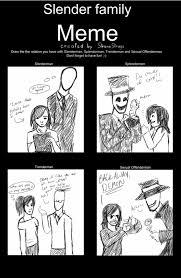Meme Family - my crappy slender family meme by channydraws on deviantart