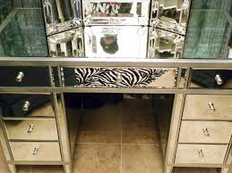 Glass Mirrored Bedroom Set Furniture Bedroom Glass Mirrored Makeup Vanity With Storage Drawers Cool