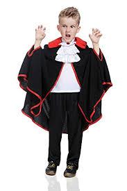 Vampire Cape Kids Boys Victorian Vampire Halloween Costume Dracula Cape Jabot