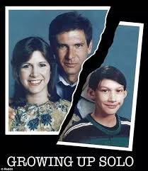 Family Photo Meme - star wars harrison ford carrie fisher and adam driver family meme