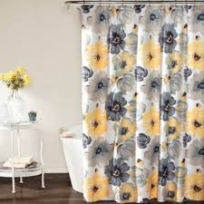 Sunflower Yellow Curtains Buy Yellow And Grey Shower Curtains From Bed Bath Beyond