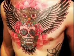sugar skull owl tattoo youtube