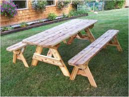 wooden picnic table with benches u2013 pollera of full image for