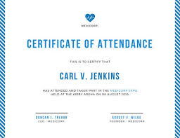 19 conference certificate of participation template