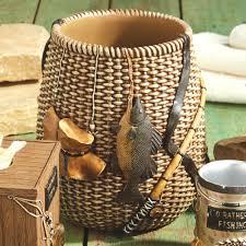 fly fishing home decor rather be fishing waste basket rustic u0026rad pinterest