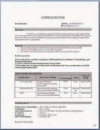 Resume Educational Background Format New Model Resume Format 28 Images Resume Format 2016 12 Free