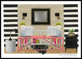 home with baxter home office mood board girly and glam