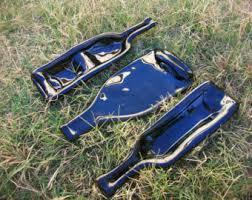 flattened wine bottle platter melted bottle etsy