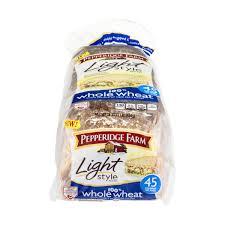 pepperidge farm light bread pepperidge farm fresh bakery 100 whole wheat light style bread from