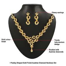 diamonds gold necklace images Buy kashish 35 pieces austrian diamond jewellery collection by jpg