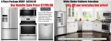White Shaker Cabinets Kitchen White Shaker Cabinets Maytag Ss Appliance Sale Under 10k