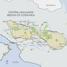 Map Costa Rica Maps Airport Transportation Tourism Guide