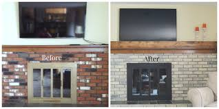 painting over brick fireplace before and after mafiamedia