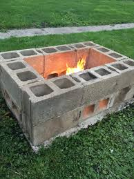 diy fire pit made from cinder blocks for the home pinterest