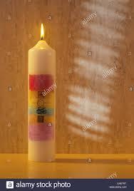 baptismal candle baptismal candle stock photo 75301516 alamy