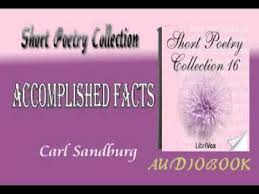 accomplished facts carl sandburg audiobook short poetry youtube