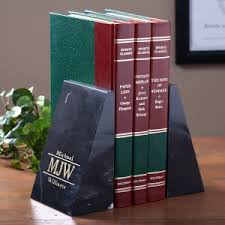 engraved bookends engraved marble bookends executive monogram style