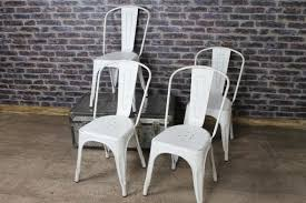Tolix Dining Chairs Tolix Dining Chairs In White Hand Distressed