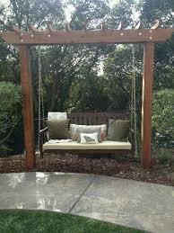 Backyard Swing Ideas My S New Backyard Swing Garden Bench Swing Popular Pins