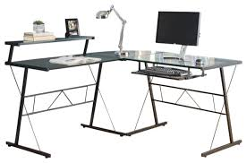 Metal And Glass Computer Desks Attractive Glass Computer Desk Corner Computer Desk Black Metal