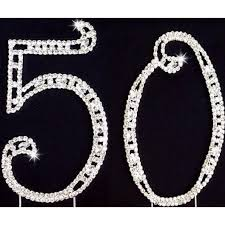 rhinestone number cake toppers 50th anniversary cake topper 50th silver cake rhinestone 50