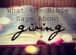 what the bible says about giving