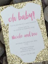 glitter baby shower invitations marialonghi