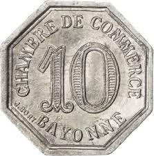 chambre de commerce de bayonne 10 centimes bayonne 1920 coinsbook