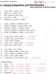 balancing chemical equations worksheet difficult worksheets