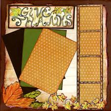 12 x 12 happy thanksgiving pages set